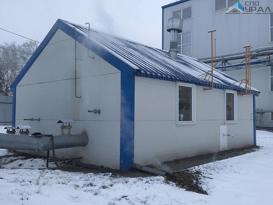 Здание паро-водогрейной котельной